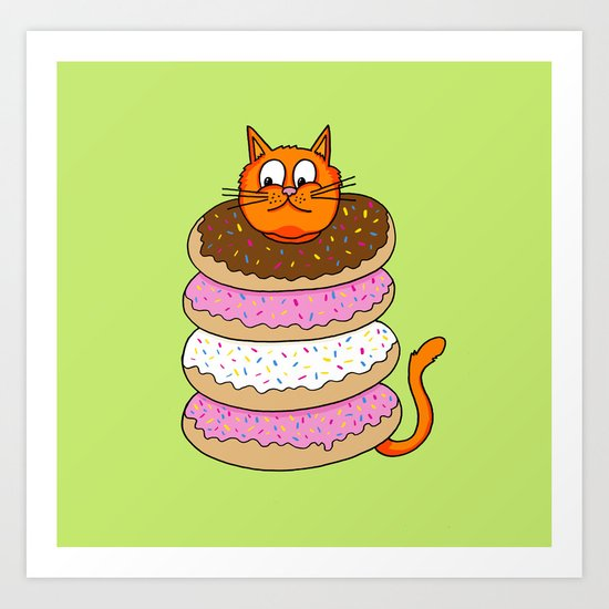 More Cats & Donuts Art Print