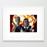 hot fuzz Framed Art Prints featuring Hot Fuzz by Richtoon