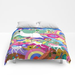 Gary the Farting Unicorn Comforters
