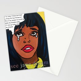Popping Art Determination Stationery Cards