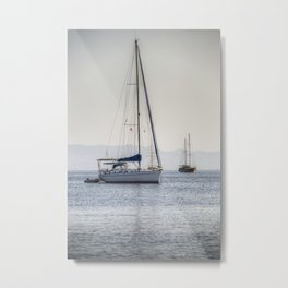 The Relaxation Yacht Metal Print