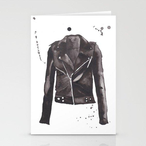 Motorcycle Jacket Stationery Cards