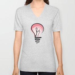 Pink Idea Unisex V-Neck