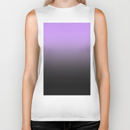 Lavender Gray Translucent Stripes Biker Tank