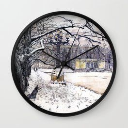 Moscow. Russia. Patriarshie pounds. Wall Clock