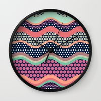 yetiland Wall Clocks featuring Patternwork XII by Metron