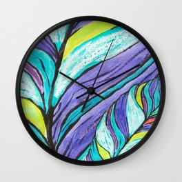 COLOURFUL LEAF AT HOME Wall Clock
