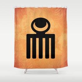 Duafe - Adinkra Art Poster Shower Curtain