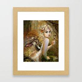 Touch of Gold - Fairy Framed Art Print