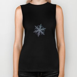 Real snowflake macro photo - Neon Biker Tank