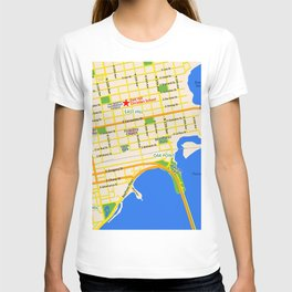 Map of Pensacola, FL - East Hill Christian School T-shirt