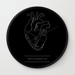Need/Absence Wall Clock