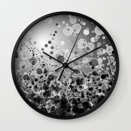 Black and White Spotted2-Grey Wall Clock
