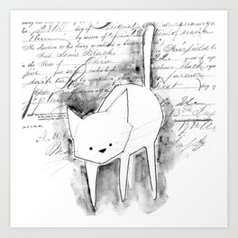minima - deco cat Art Print