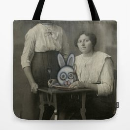 Atered Cabinet Photo - Rabbit Lunch  Tote Bag
