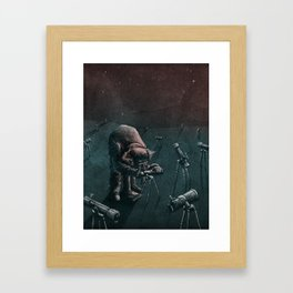 Gaze Through the Stars Framed Art Print