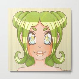 Mochi Platter Bust Print Metal Print