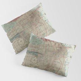 Vintage Map of San Francisco CA (1914) Pillow Sham