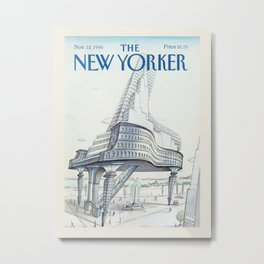 """Cover of """" The new Yorker"""" magazine. Nov. 12 1990. Metal Print"""
