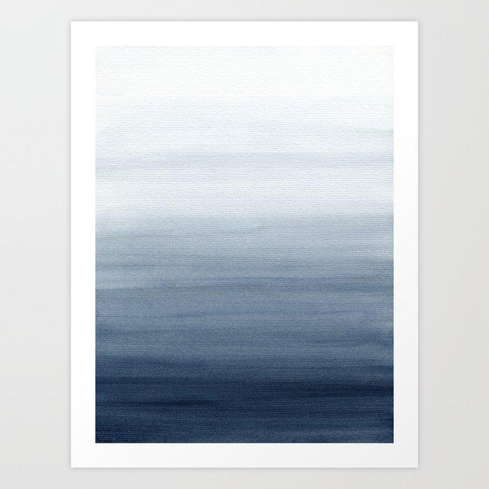 Ocean Watercolor Painting No.2 Kunstdrucke