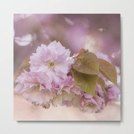 Cherry Blossom LOVE - Sakura - Pink Flower Flowers Metal Print