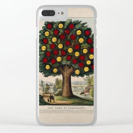 The tree of temperance, showing benefits caused by healthyThe tre living. Coloured lithograph, 1872. Clear iPhone Case