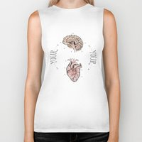 anatomical heart Biker Tanks featuring Anatomical Oracle by Michele Phillips