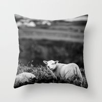 lamb Throw Pillows featuring Lamb by BethWold