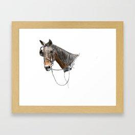 Buggy Horse Framed Art Print