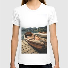 wooden Boat at Lake Bled T-shirt