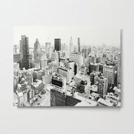Manhattan Cityscape no.1 B&W Metal Print
