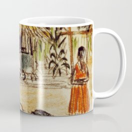 Uganda Homestead, East Africa 1960 Coffee Mug