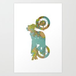 World Moto Art Print