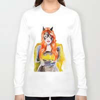 batgirl Long Sleeve T-shirts featuring BATGIRL by Clementine Petrova