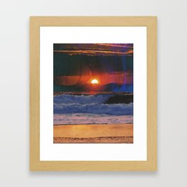 Deadly Waves Framed Art Print