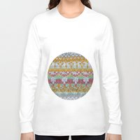 knitting Long Sleeve T-shirts featuring KNITTING #3 by NADEZDA FAVA