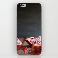 pomegranate iPhone & iPod Skins featuring Pomegranate  by Tina Crespo