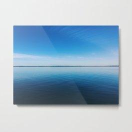 Calm & Blue Metal Print