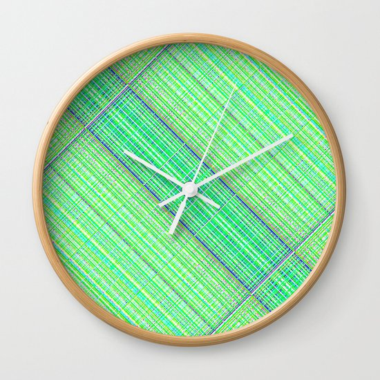 Re-Created  Grid 5 by Robert S. Lee Wall Clock