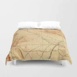 Vintage Map of The Las Vegas Valley NV (1907) Duvet Cover
