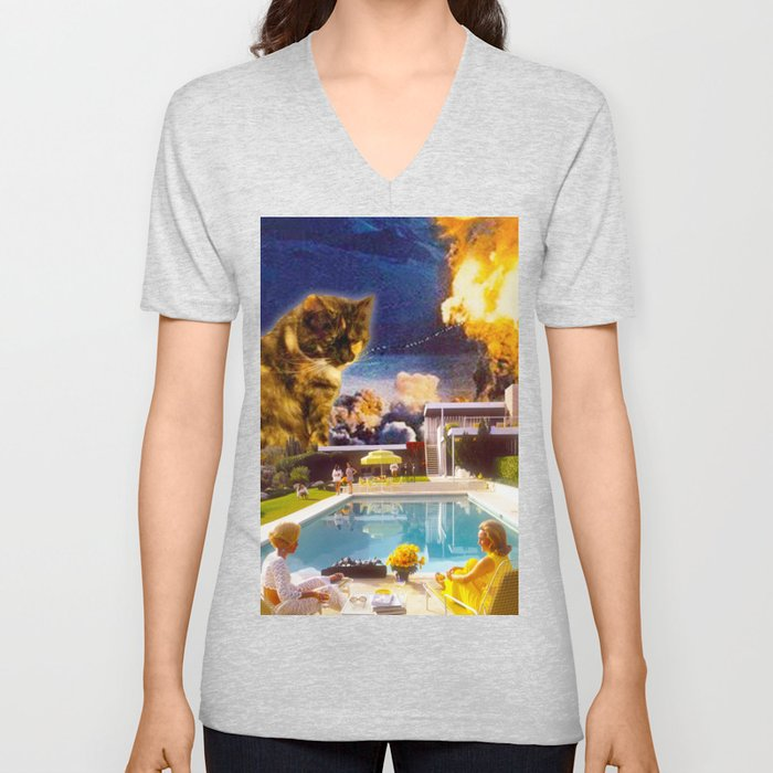 Midcentury Radioactive Cuddle Unit 5 Unisex V-Neck