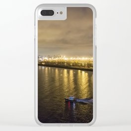 Port of Los Angeles at Dawn Clear iPhone Case