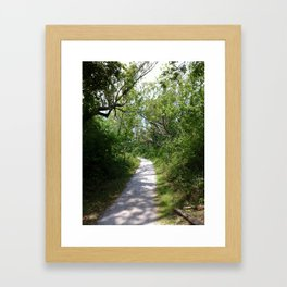 Curve Framed Art Print