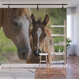 Horse Family Wall Mural