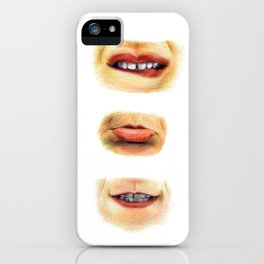 Lips with emotions iPhone Case