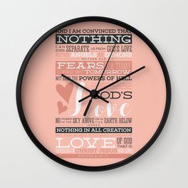 Nothing Can Separate Us From God's Love Wall Clock
