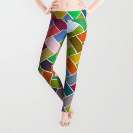 Colourful Tiled Mosaic Pattern Leggings
