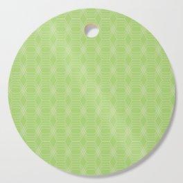 hopscotch-hex bright green Cutting Board