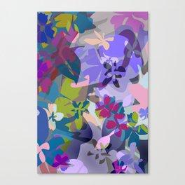 Wild Lavender Jungle Canvas Print