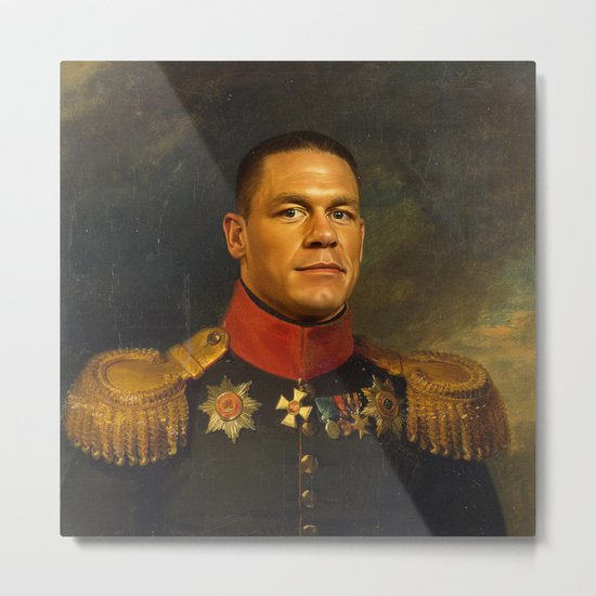 John Cena - replaceface Metal Print